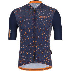 Santini Delta Pietra Shortsleeve Jersey Men, azul/naranja